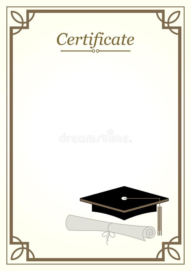 De Grens van het certificaat vector illustratie