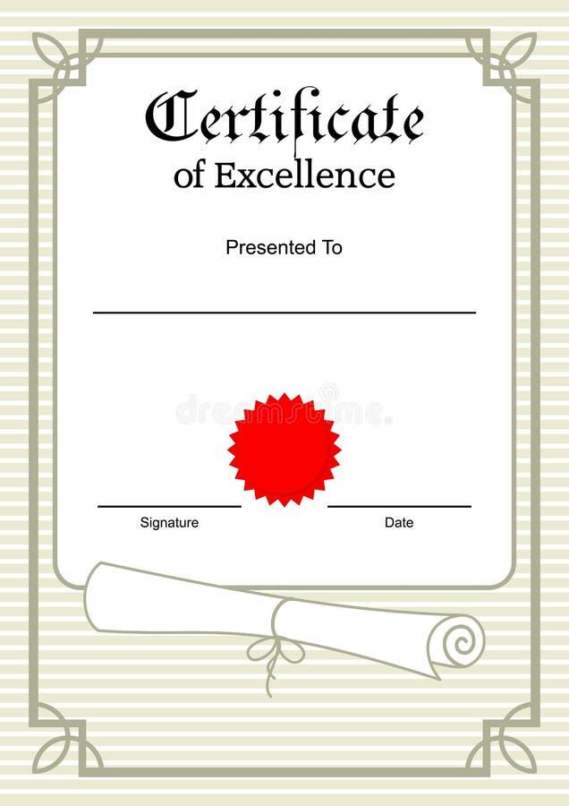 De Grens van het certificaat stock illustratie