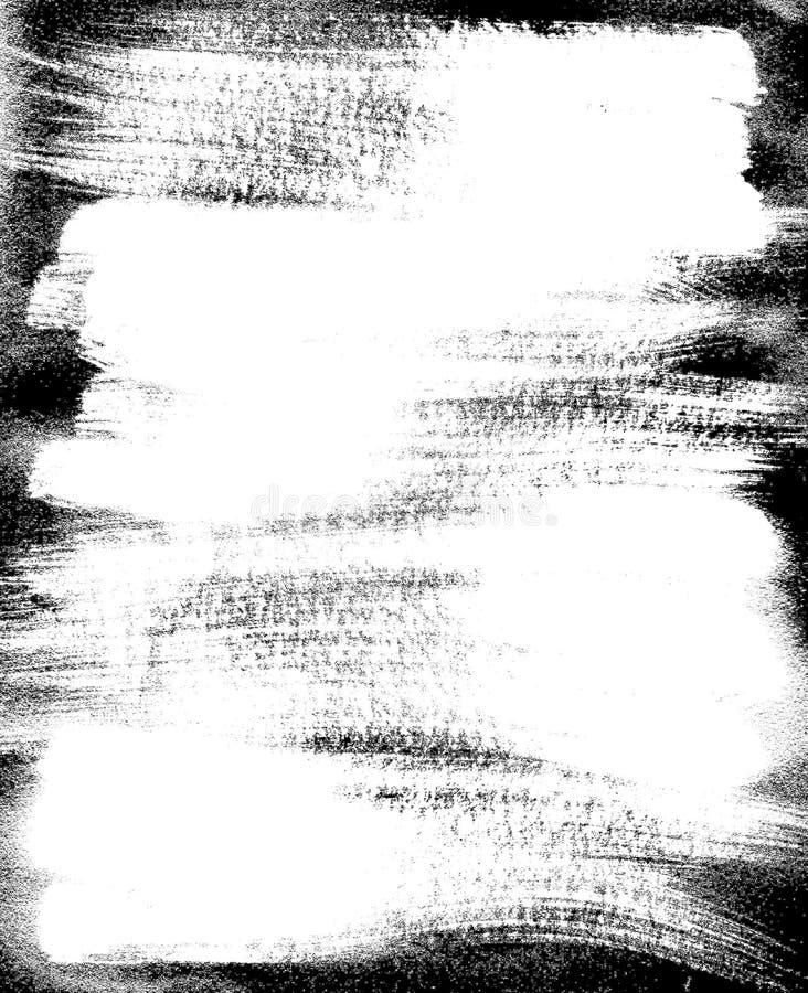 De grens van het frame en lijnenschets. ruwe verf. vector illustratie
