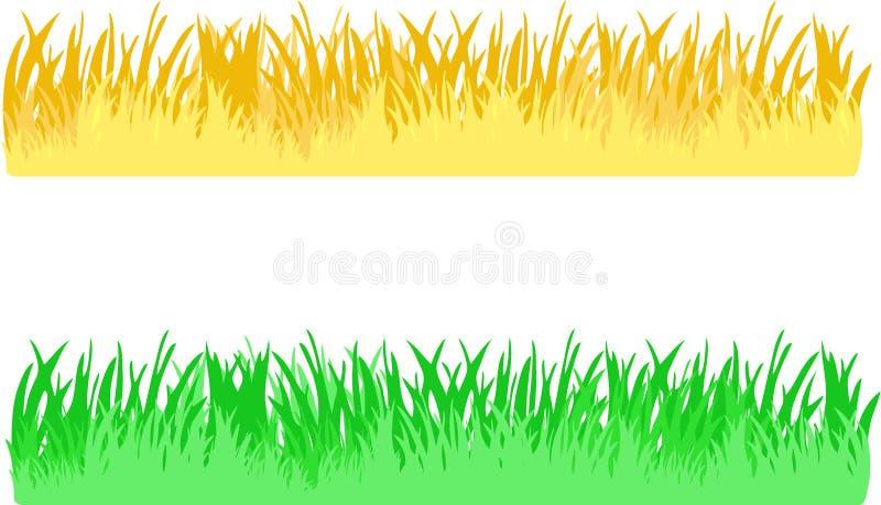 De grens van het gras royalty-vrije illustratie