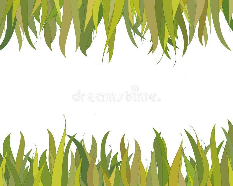 De grens van het gras vector illustratie