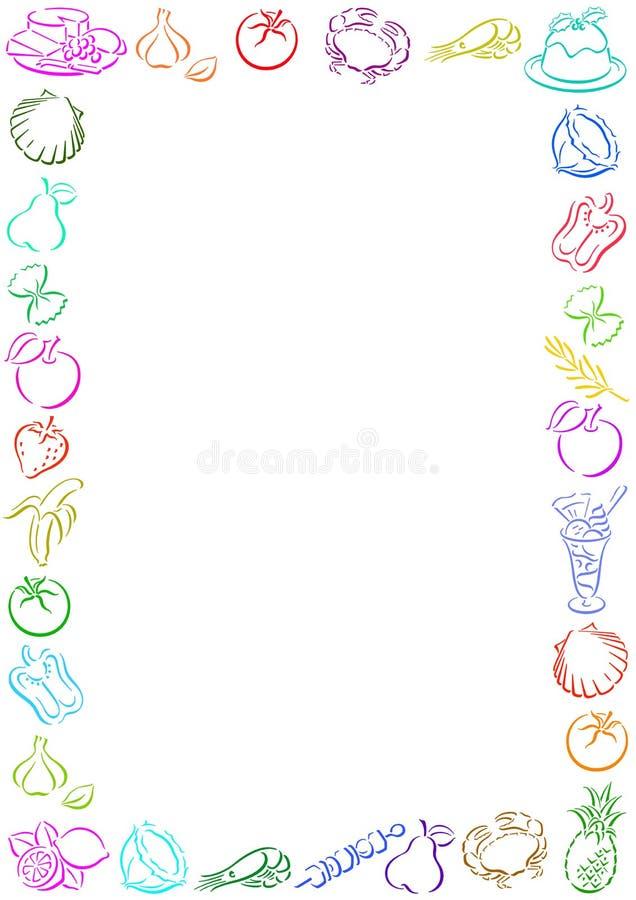 De grens van het voedsel vector illustratie