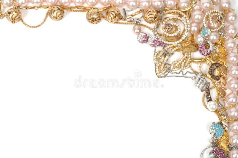 De grens van juwelen royalty-vrije stock foto's