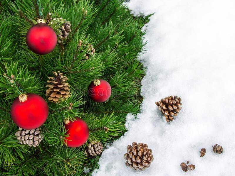 De grens van Kerstmis De mooie grens van Kerstmisdecoratie met exemplaar-ruimte royalty-vrije illustratie