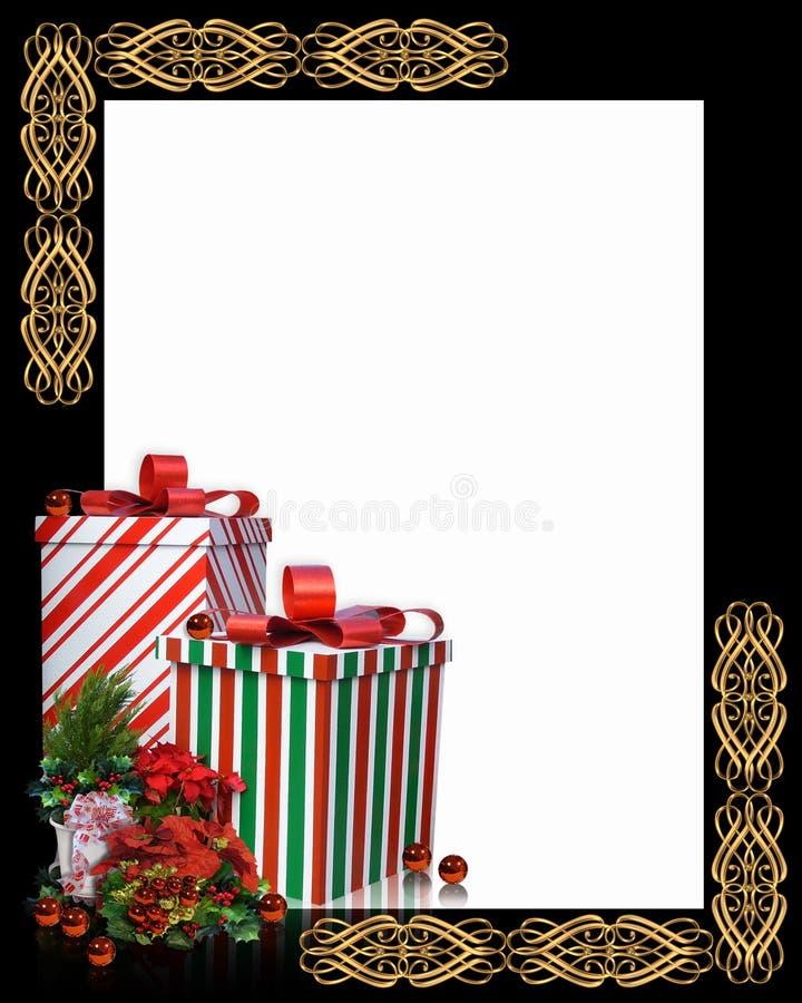 De Grens van Kerstmis stelt Frame voor stock illustratie