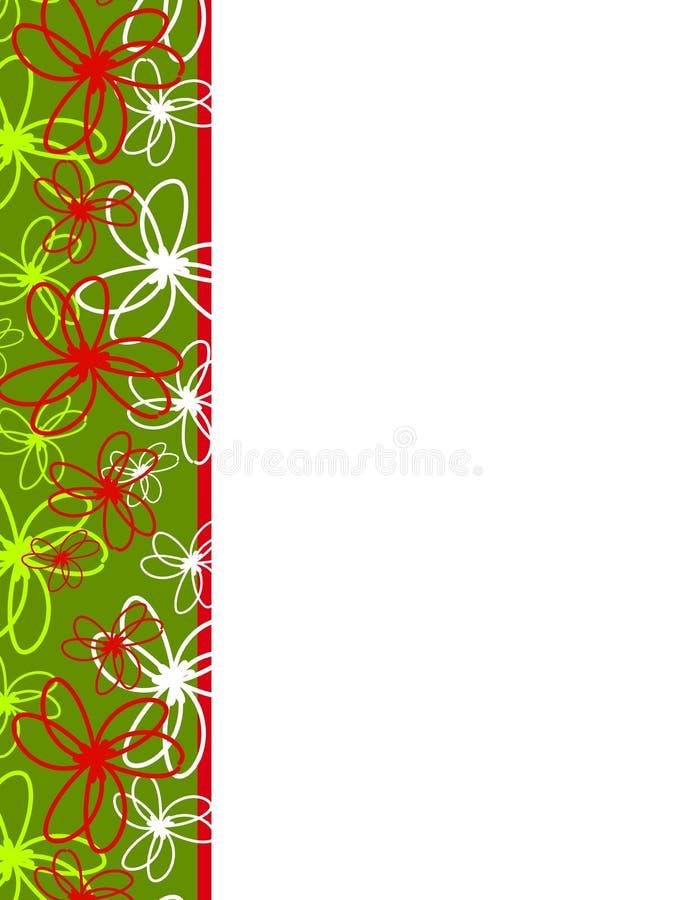De Grens van Kerstmis van de Linten van Artsy royalty-vrije illustratie