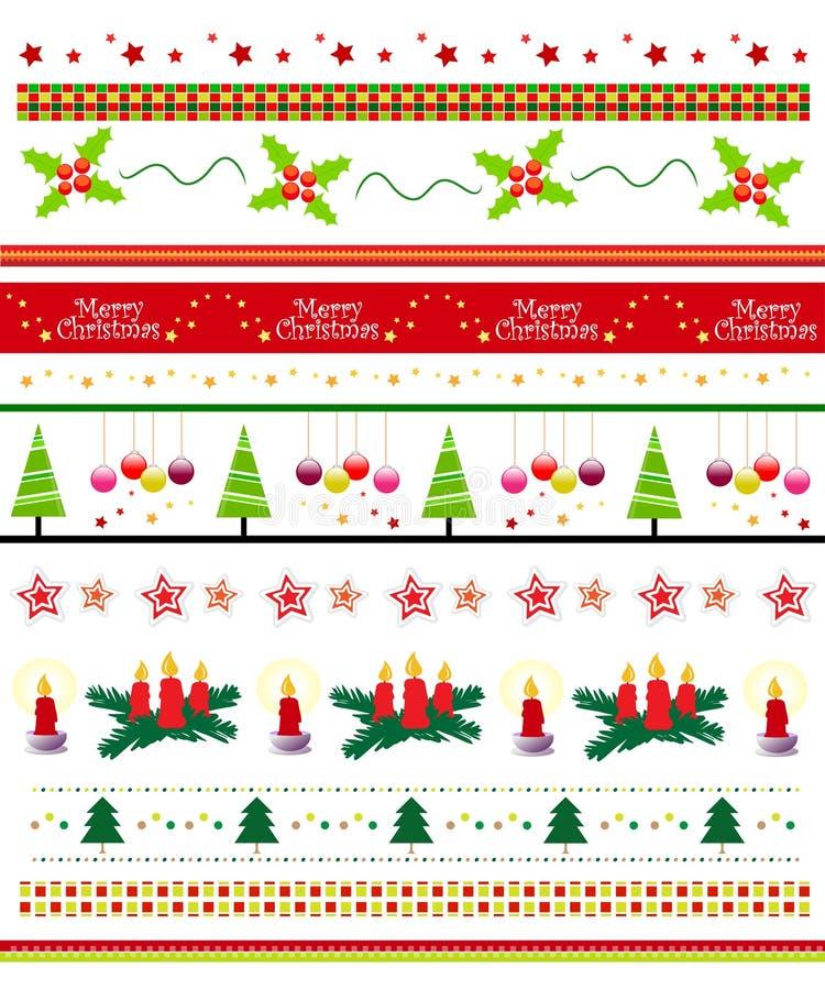 De grens van Kerstmis/van de tekstverdeler reeks stock illustratie