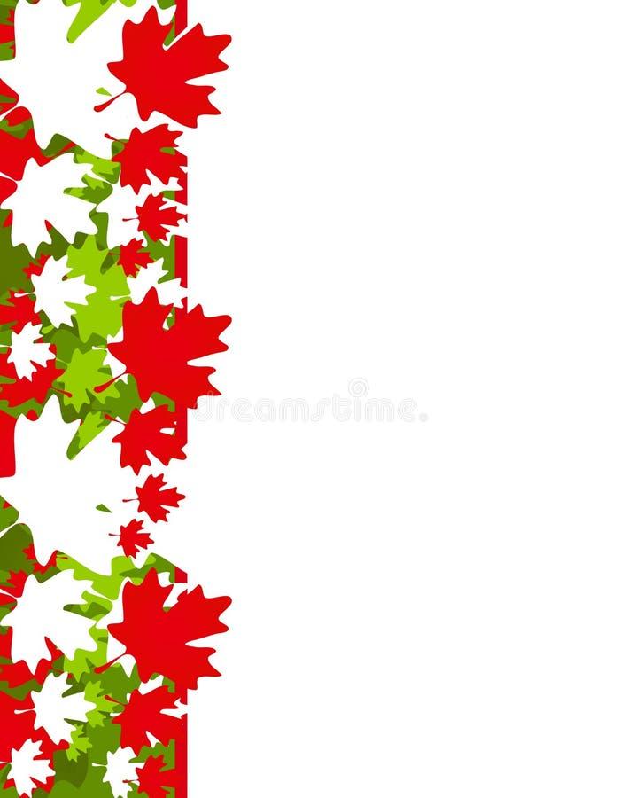 De Grens van Kerstmis van het Blad van de Esdoorn van Canada stock illustratie
