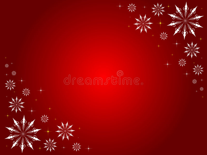 De grens van sneeuwvlokken en van sterren stock illustratie