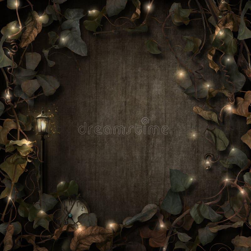De grensdark van fantasie fairytale wijnstokken stock illustratie