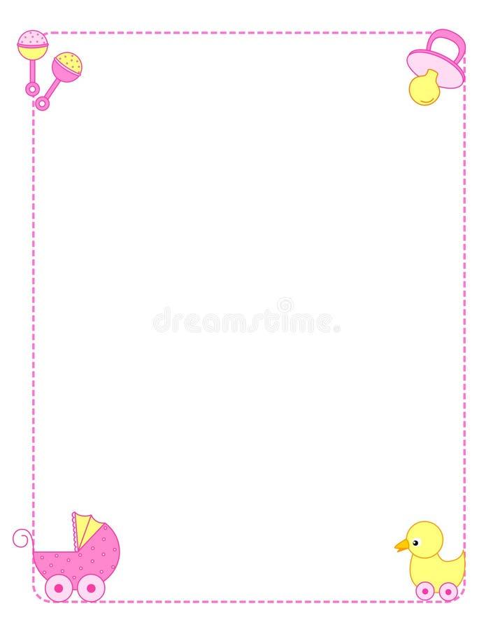 De grensmeisje van de baby stock illustratie