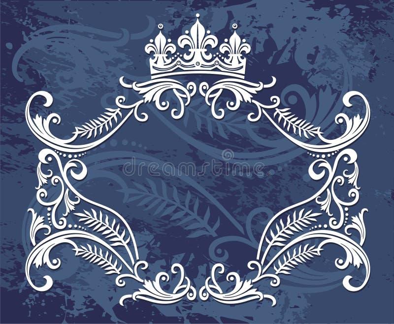 De grensontwerp van de kroon royalty-vrije illustratie