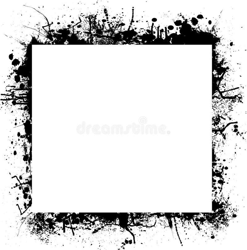 De grensvierkant van de inkt splat stock illustratie