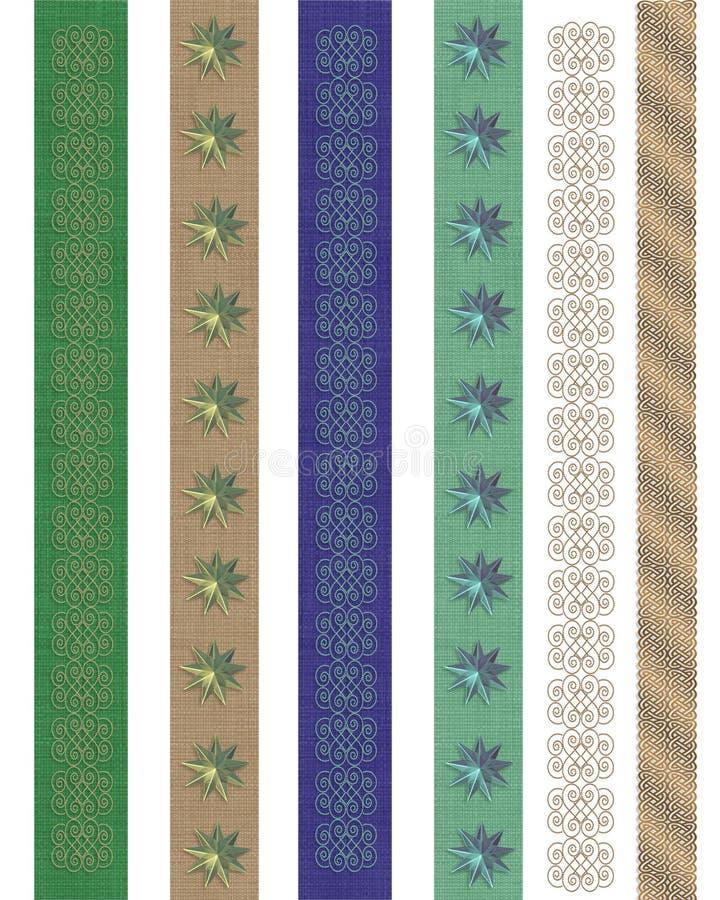 De grenzen decoratieve Kantoorbehoeften van de pagina royalty-vrije illustratie