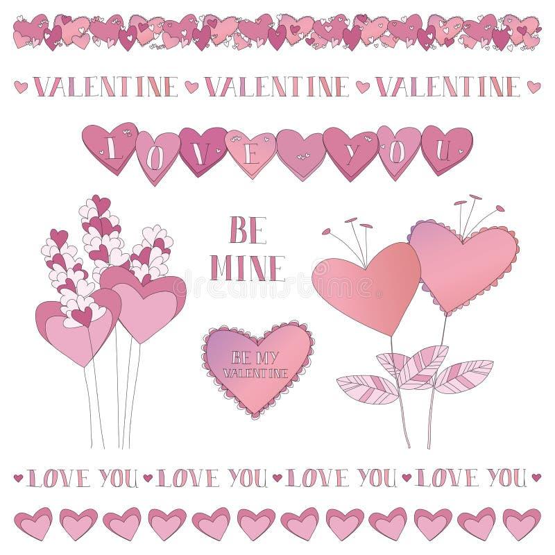 De Grenzen van de valentijnskaart stock illustratie