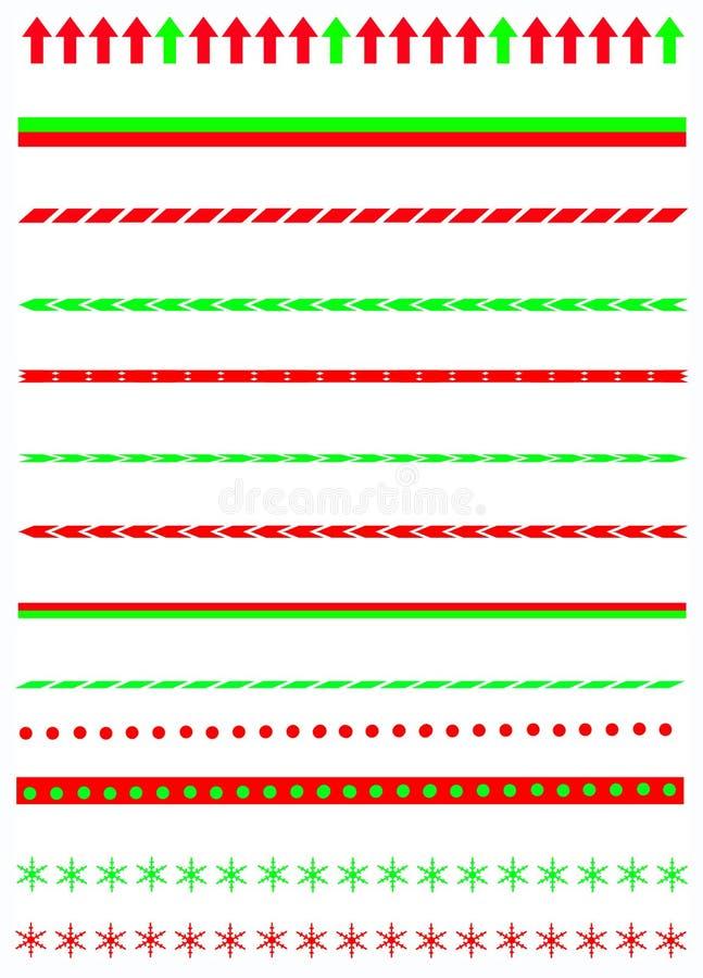 De grenzen van Kerstmis vector illustratie