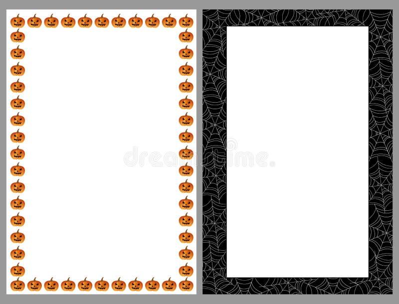 De grenzenframes van Halloween royalty-vrije illustratie