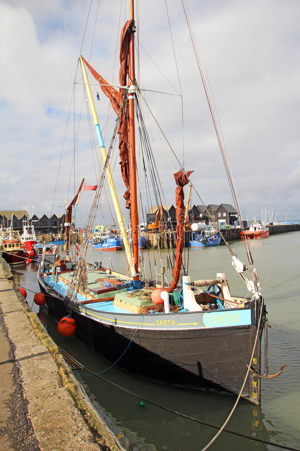 De Greta de navigation de péniche port whitstable dedans photographie stock libre de droits