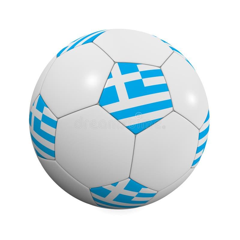 De Griekse Bal van het Voetbal stock illustratie