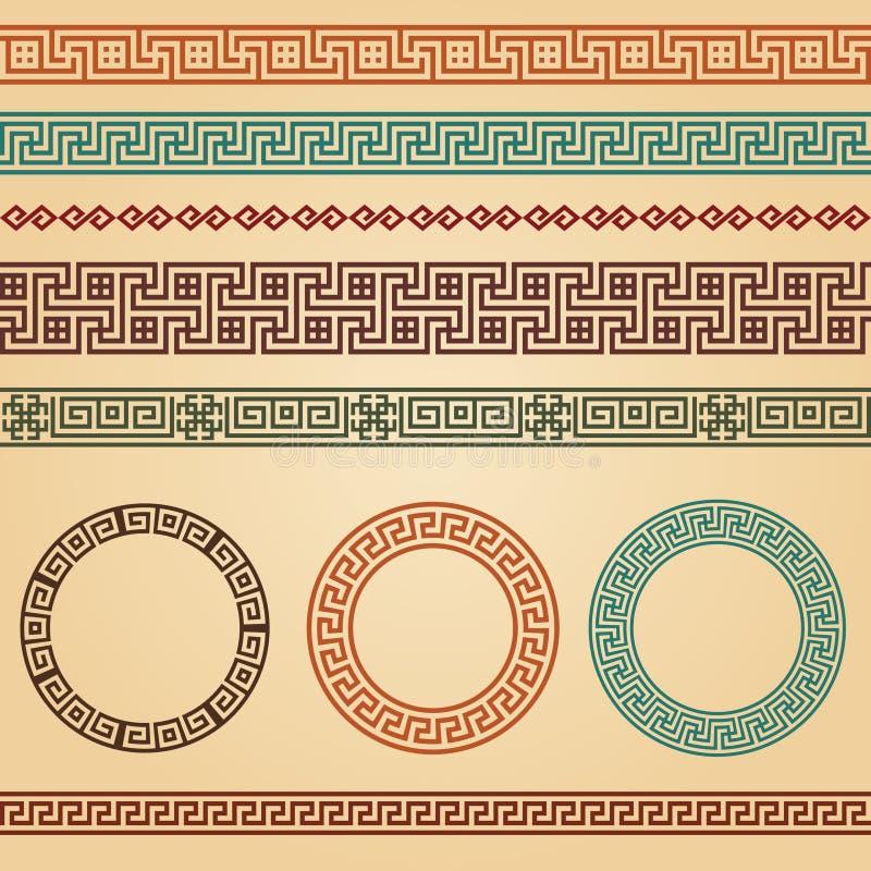De griekse elementen van de grenzendecoratie royalty vrije stock fotografie afbeelding 35785577 - Etnische pouf ...