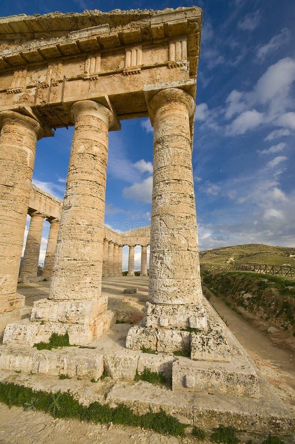 De Griekse Tempel Sicilië royalty-vrije stock afbeelding