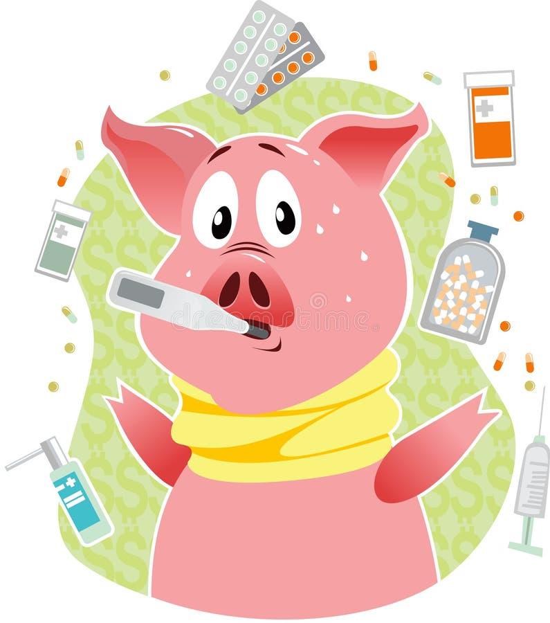 De griep van varkens stock illustratie