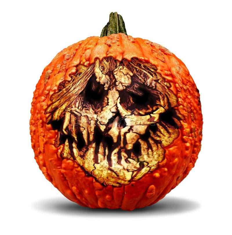 De griezelige Pompoen van Halloween vector illustratie