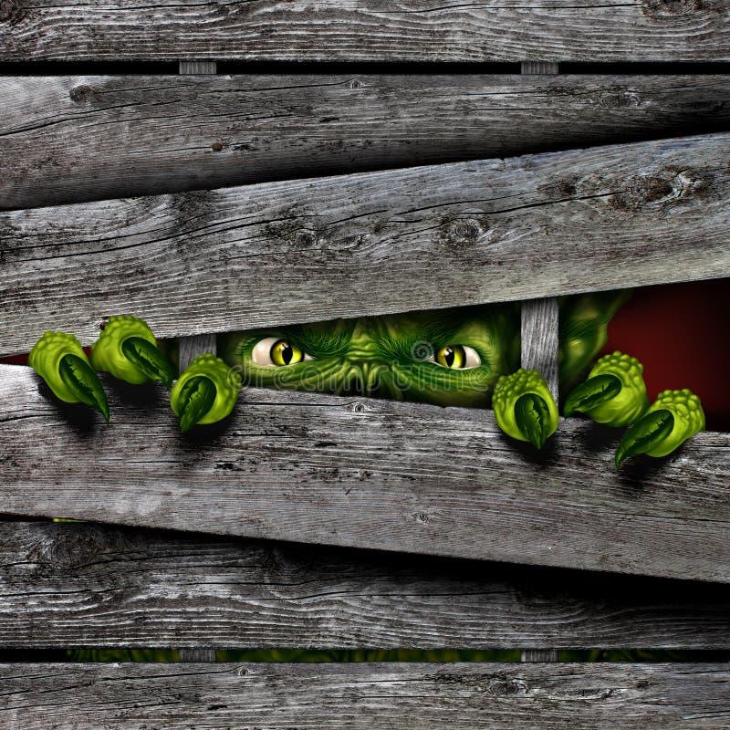 De griezelige Zombie van het Verschrikkingsmonster royalty-vrije illustratie