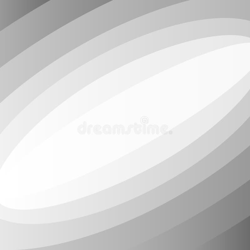 De grijze abstracte achtergrond van de gradiëntkromme stock illustratie