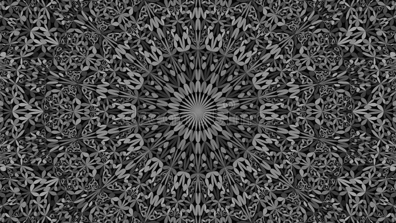 De grijze abstracte achtergrond van het mandalaornament van de bloemblaadjetuin - Boheemse vectorafbeeldingen vector illustratie