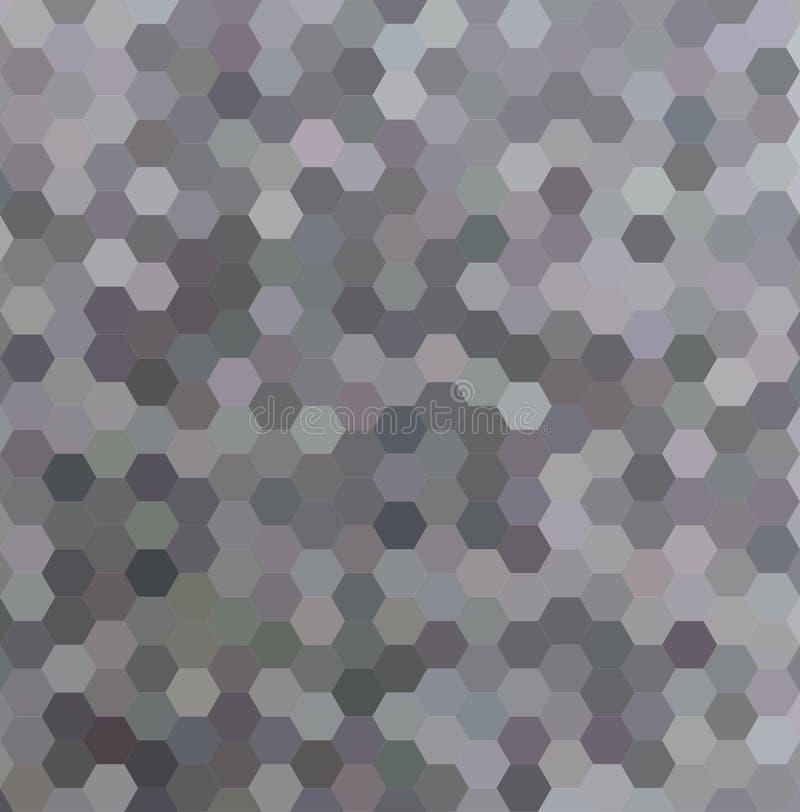 De grijze abstracte hexagonale achtergrond van de honingskam stock illustratie