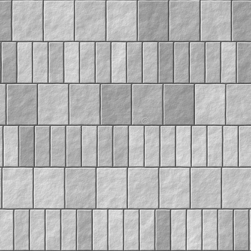 De grijze achtergrond van de bakstenen muur naadloze Illustratie - textuurpatroon voor ononderbroken herhaling Oude grijze bakste royalty-vrije stock afbeelding
