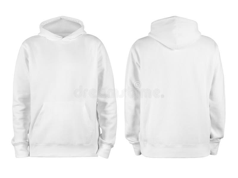 De grijze blanco hodie-sjabloon van mannen, van twee kanten, natuurlijke vorm op onzichtbare mannequin, voor je ontwerpmodel voor royalty-vrije stock foto's