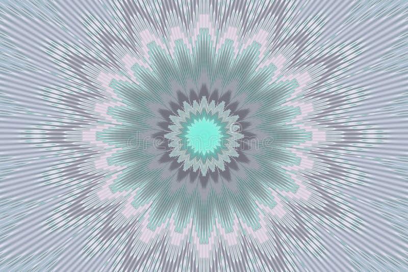 De grijze bloemencaleidoscoop van het bloempatroon Abstracte zwarte royalty-vrije illustratie