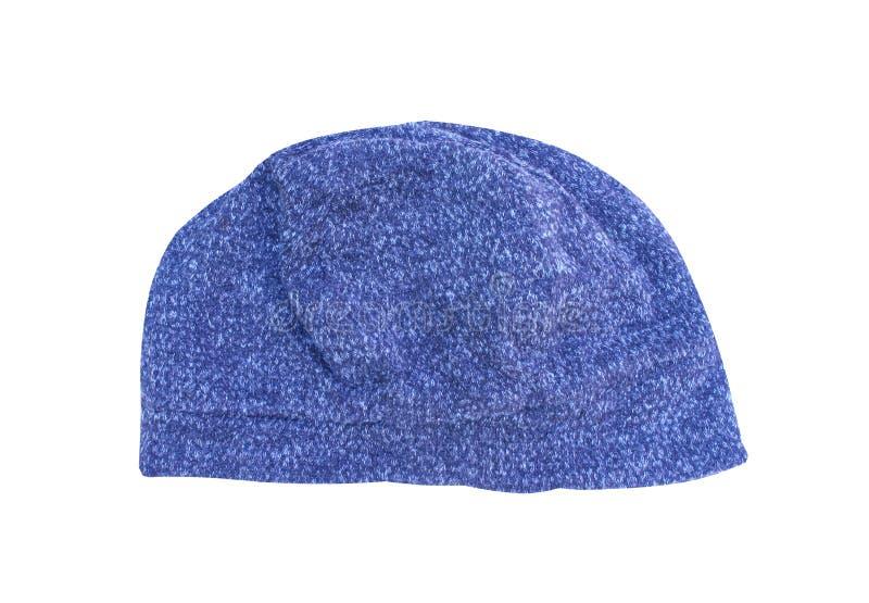 De grijze of donkerblauwe die patronen van de de winterhoed op witte weg worden geïsoleerd als achtergrond en het knippen royalty-vrije stock afbeeldingen