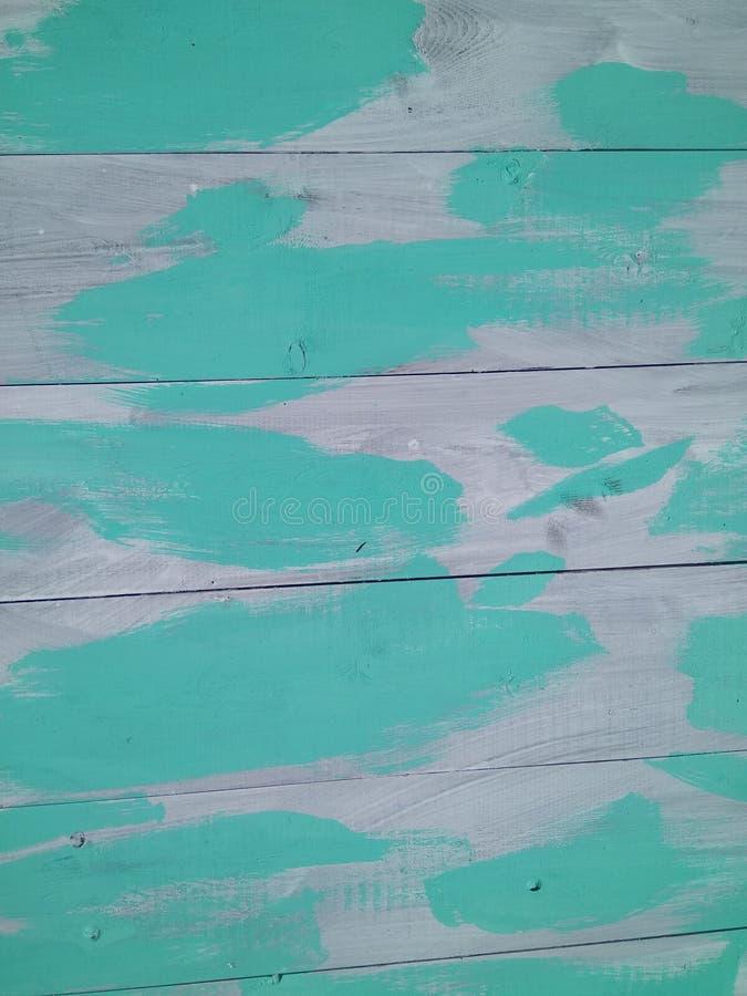 De grijze en turkooise kwaststreek houten textuur met natuurlijke patronenachtergrond stock foto's