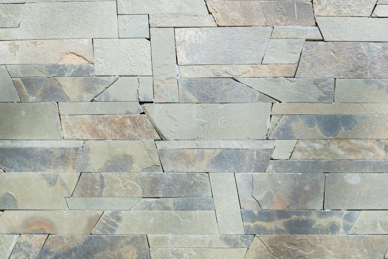 De grijze en witte achtergrond van keramische steen van de de kleurentextuur van de Steenmuur mooie voor kunstbinnenland ontwerpt stock foto's