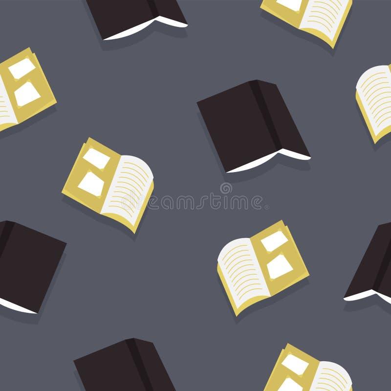 De grijze en zwarte vector van het boekenpatroon royalty-vrije illustratie
