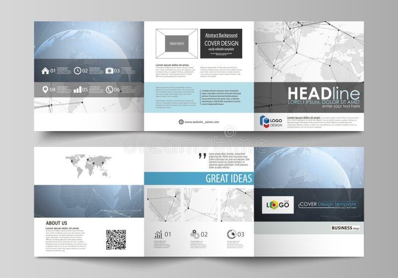 De grijze gekleurde minimalistic vectorillustratie van de editable lay-out Twee creatieve malplaatjes van het dekkingsontwerp voo stock illustratie