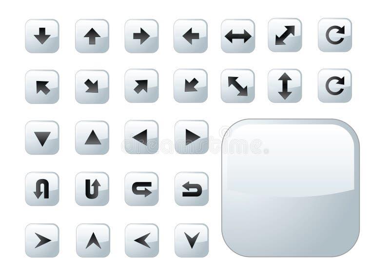 De grijze knopen van de pijl vector illustratie