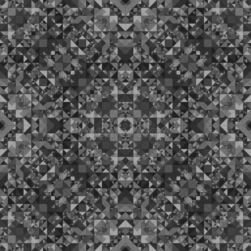 De grijze naadloze achtergrond van het caleidoscooppatroon - abstract stammen vectorbehang vector illustratie