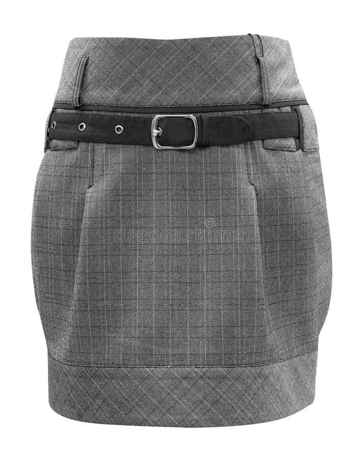 De grijze rok van dames, het knippen weg stock foto