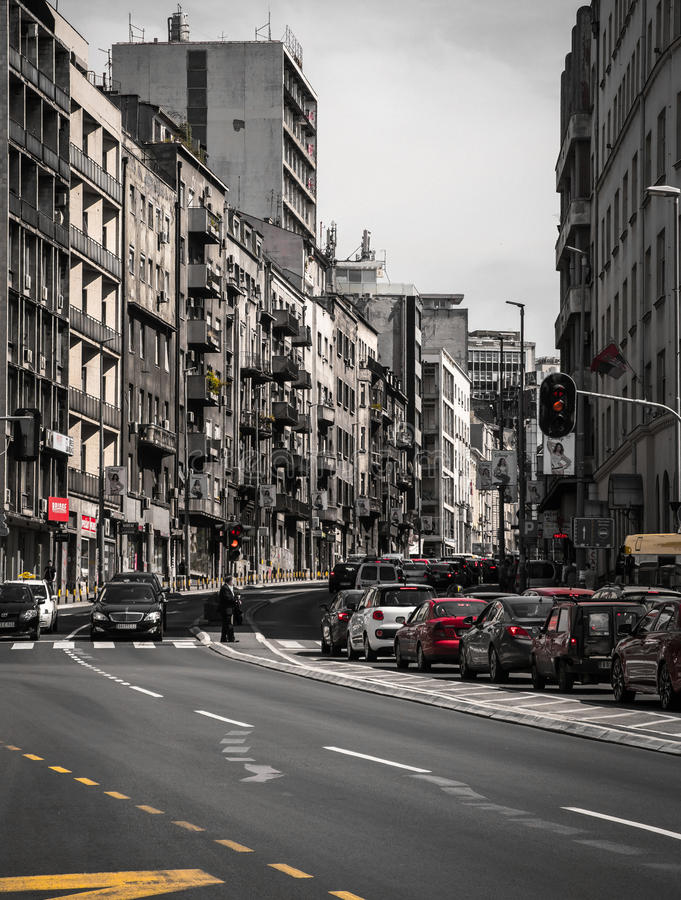 De grijze stad stock fotografie