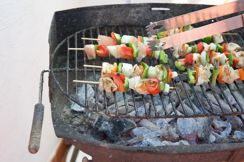 Barbecuegrill royalty-vrije stock afbeelding