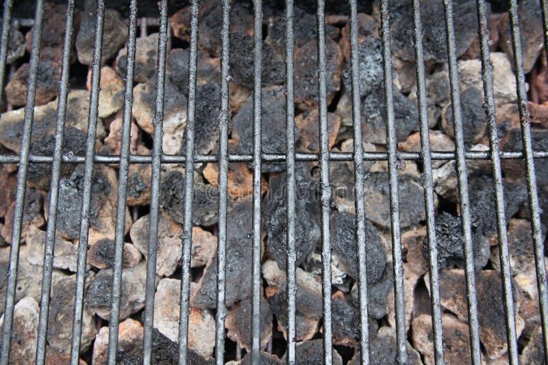 De grill van de barbecue en steenkool dichte omhooggaand stock foto