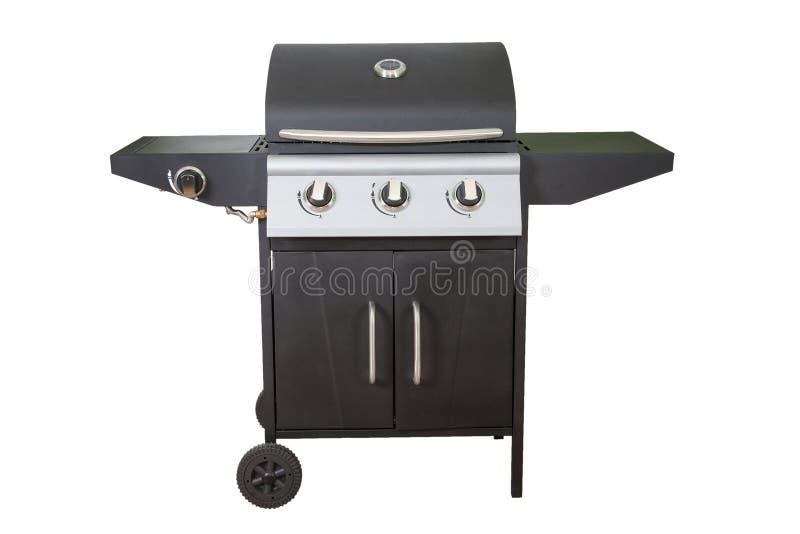 De grill van de gasbarbecue die op witte achtergrond wordt geïsoleerd royalty-vrije stock afbeelding
