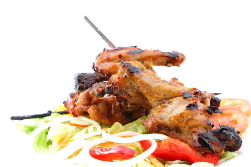 De grill van de kippenvleugel royalty-vrije stock afbeelding