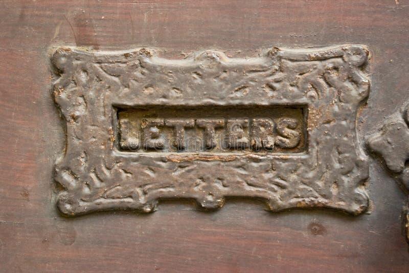 De groef van de brievenbus royalty-vrije stock fotografie