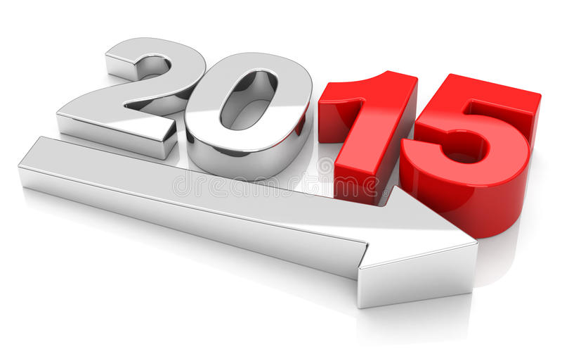 De groei 2015 vector illustratie