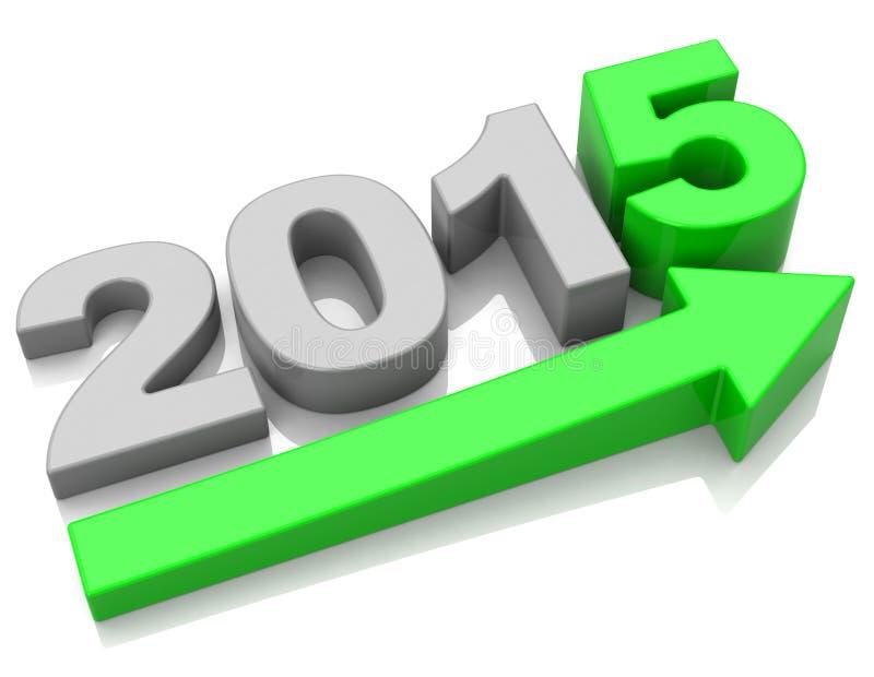 De groei 2015 stock illustratie